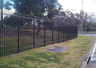 Security Steel Tube Fence Panels , Galvanised Tubular Fencing With 25mm Tube Diameter