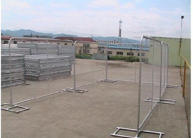 Silver Color Portable Event Fencing , Construction Chain Link Fence Panels
